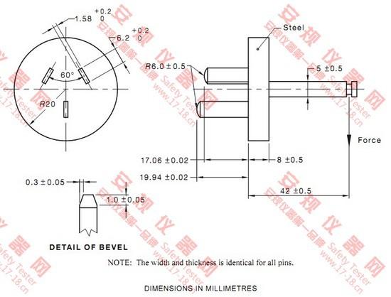 澳洲AS/NZS 3112图3.6检查横向应力治具  SAA插座横向应力冶具  RESISTANCE TO LATERAL STRAIN