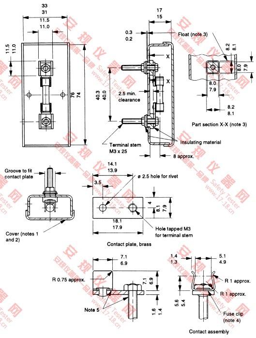 MH-136203英式陶瓷保险丝过载测试治具|BS1363保险丝超载测试夹具|BS1362 Figure 29 Calibration