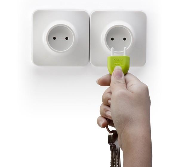 不带电的插头 仿插头的插座钥匙链
