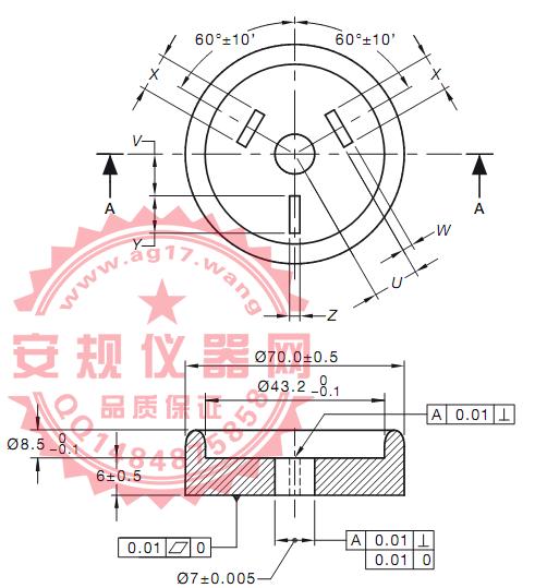 澳洲AS/NZS 3112 图A1三插扁平插脚量规|250V三扁平插销插头量规|FIGURE A1-GAUGE FOR THREE-PIN 250 V MAX. FLAT-PIN PLUGS|Figure A1-Gauge