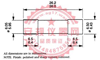 BS1363-1图19保险丝夹量规|英国头内架保险线夹规|Figure 19-Solid link for test on fuse clips