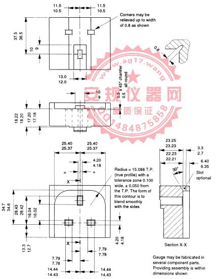 BS1363-1图5规|13A英式插头插脚尺寸量规|Figure 5 gauge|Figure 5 Gauge for plug pins