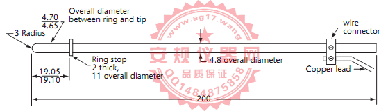 CSA C22 No.42图12插座孔电气连接测试针B 测试针 Figure12 Test pin B