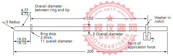 CSA C22 No.42图16插座孔接地连接测试针A|测试针|Figure16 Test pin A