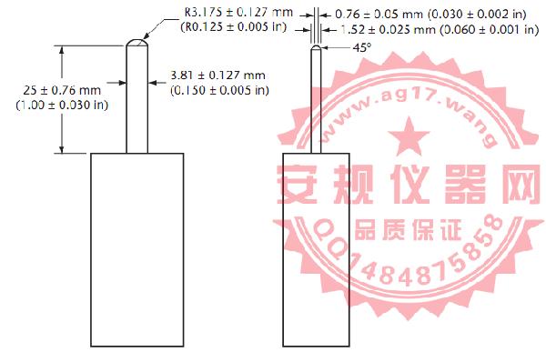 CSA C22 No.42图30试验探针|测试PIN针|Figure 30 Test probe